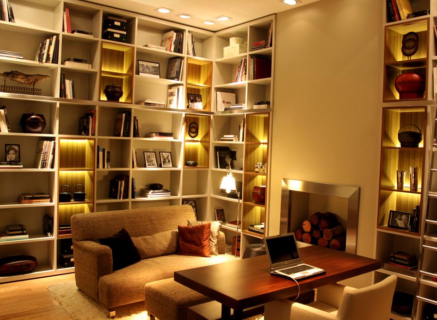 Biblioteca estudio iluminacion